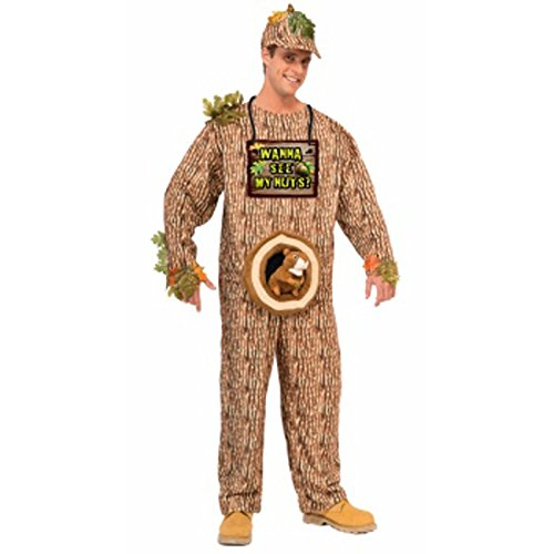 [Forum Novelties Men's Wanna See My Nuts Costume, Multi, Standard] (Man In Squirrel Costume)