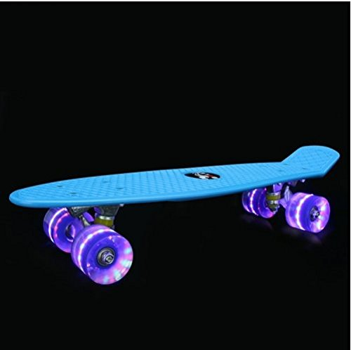NGDOLL Environment Protection PP Materials Children Four Wheels Skateboard Shining Fish Plate Pedal Scooter by NGDOLL
