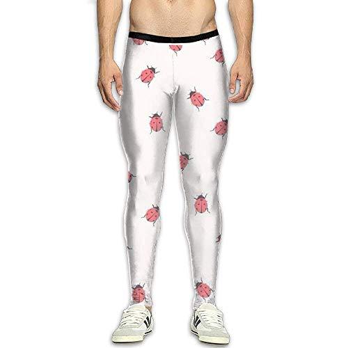 Set Capri Outfit Ladybug (Olivefox Men's Compression Pants Baselayer Cool Dry Sports Tights Leggings)