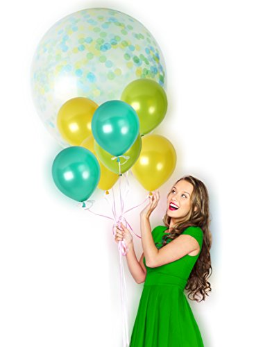 St Patricks Day Baby Shower - Green Confetti Balloons 36