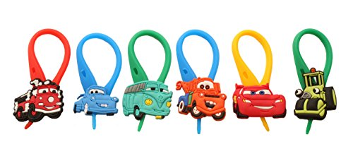 APSILON Multicolor Rubber String Zipper Pulls - Cars # 2