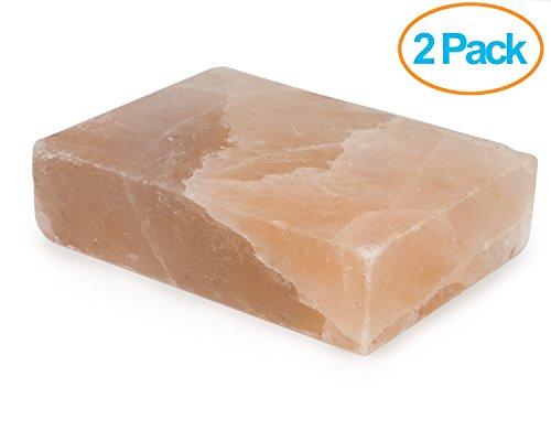 HemingWeigh Himalayan All Natural Crystal Salt Cooking Tile (10' X 6' X 2') - 2 Pack