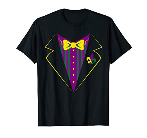 Funny Mardi Gras Tux Shirt, Party Celebration Costume Gift -