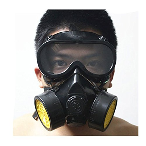 [EUBEST Halloween Costume Mask Industrial Gas Chemical Anti-dust Respirator Mask Goggles Set] (Halloween Costumes With Gas Mask)
