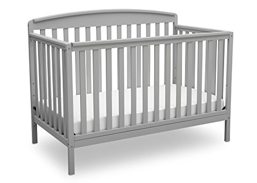 Delta Children Brayden 4-in-1 Convertible Baby Crib, Grey
