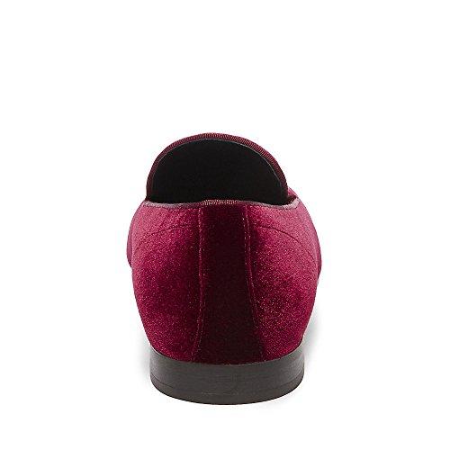 Steve Madden Men's Laight Slip-on Loafer Burgundy Velvet browse under 70 dollars sale online cheap SpprbU