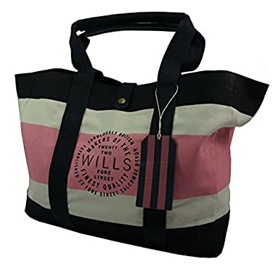 fb60bc80c Jack Wills NEW Attwood Large Tote Bag Navy/Pink: Amazon.co.uk: Shoes & Bags