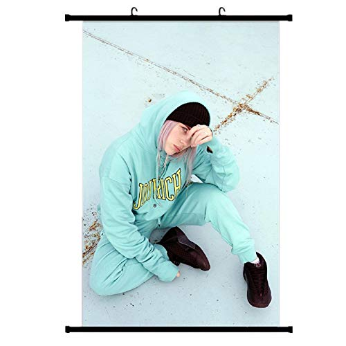 Chutoral Billie Eilish Poster Prints, Hip Hop Singer Wall Scrolls Poster for Collect Home Wall Bedroom Decoration(H05) from Chutoral