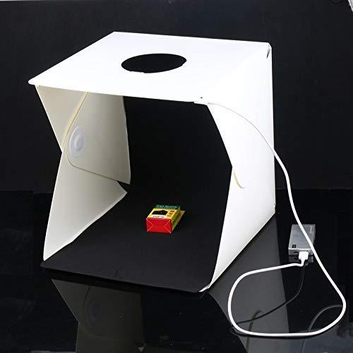 HIFFIN® Photo Bag 30cm Medium Size Portable Folding with 1 led Strips lightbox Photography Photo Studio Softbox Lighting Kit Light Box for Phone Digital Camera