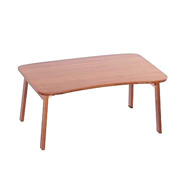 ACZZ Mesa portátil de bambú Cama Cama Mesa de estudio Mesa ...