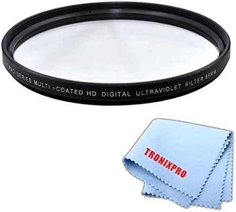 Tronixpro 72mm Pro Series High Resolution Digital Ultraviolet UV Protection Filter Tronixpro Microfiber Cloth