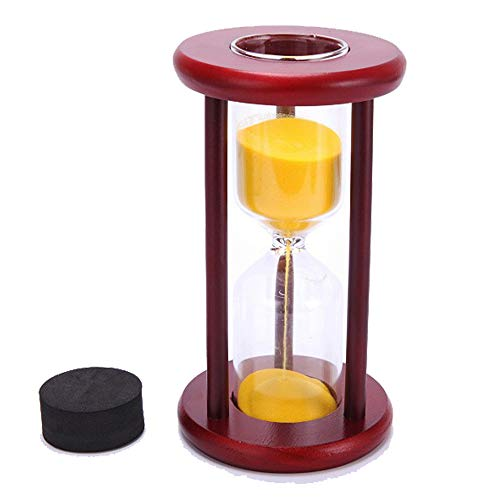 Wine Wood Sand Glass Clock Hourglass Timer Decor,Empty,Put Your Wedding Ceremony -
