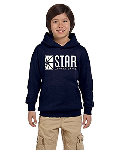 TheTshack Star Lab Unisex Youth Pullover Hoodie Sweat Shirt (Small(14yrs-16yrs), Navy Blue)