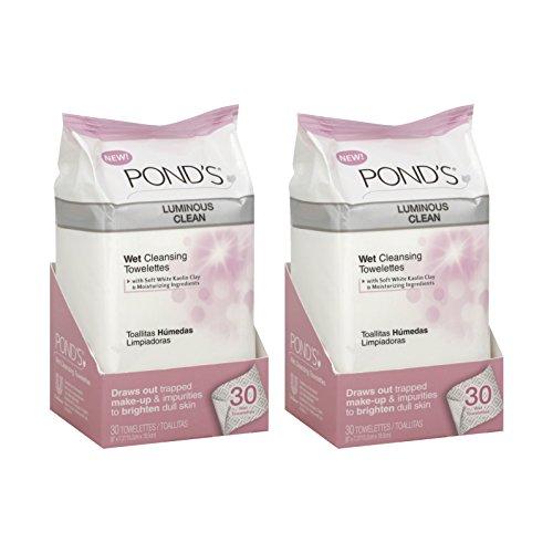 ponds-luminous-clean-wet-cleansing-towelettes-30-ea-2pc