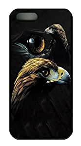 Golden Eagle Collage Polycarbonate Hard Case Cover for iPhone 5/5S Black by Maris's Diary