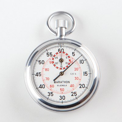 (211003-B - Stopwatch, Single Action, 1/5 Second, 30 Minutes - Single Action Stopwatch -)