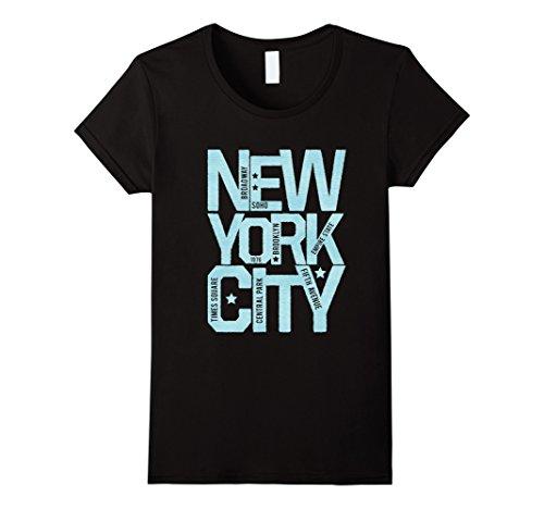 Womens New York City NYC Souvenir Unisex T-shirt XL - Broadway Avenue York New City
