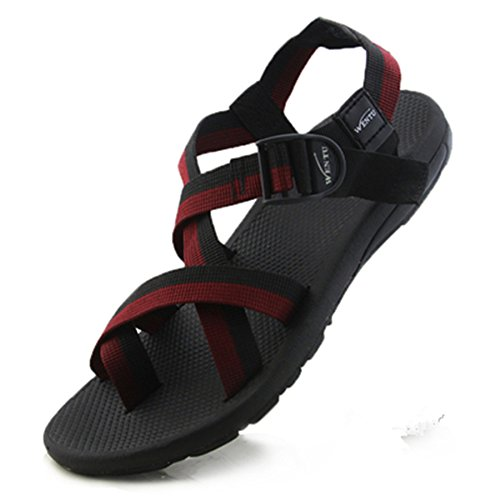 Red w Summer Sports Leisure Black Comfortable Junsi Beach Fashion Shoes Slippers Sandals Shoes g67HqwS