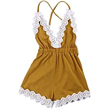 MA&BABY Baby Girls Halter One-Pieces Romper Jumpsuit Sunsuit Outfit Clothes 0-24M