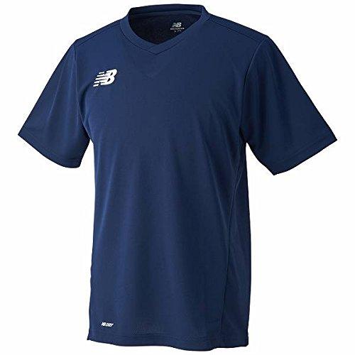 納税者もっともらしいながらnew balance(ニューバランス) ゲームシャツ サッカー フットサル ネイビー JMTF6192-NV