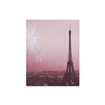 French Paris Amazing Eiffel Tower City Of Love Oil Painting Home Decorative Canvas Prints- 16x20Inch(One Side)