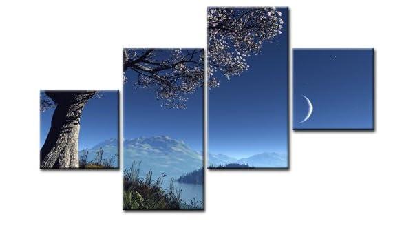Top imagen sobre lienzo al anochecer 4 imágenes Número de ...