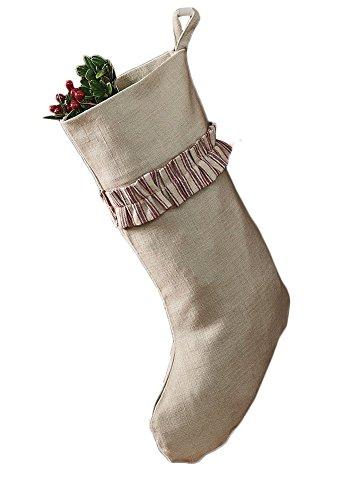 Season Stocking (Park Designs Holiday Collection Tis The Season Stocking with Ruffle)