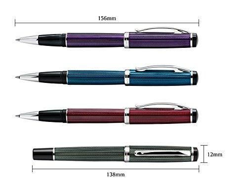 Xezo Diamond Cut Gel Ink Rollerball Pen (Incognito Purple R) by Xezo (Image #6)