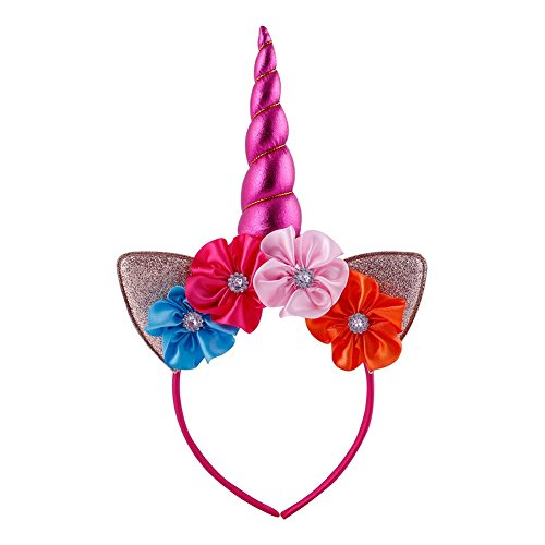 Carnival Costumes Of Photos (Pop Your Dream Baby Girls Adults Cute Shiny Bling Unicorn Horn Cat Ears Hairband Halloween Cosplay Costume Birthday Party)