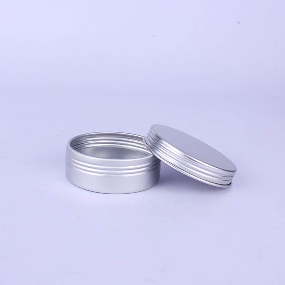 Plata NUOBESTY 48 Piezas Latas de Aluminio Envases Vac/ía para Crema de Aluminio con Tapa Contenedor Botellas de Viaje para Cosm/ético Maquillaje 25 ml