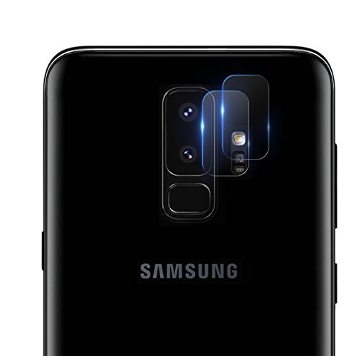 Casetego Compatible S9 Plus Camera Lens Protector, Ultra Thin Transparent Clear Camera Tempered Glass Protector, High Definition Camera Lens Protector for Samsung Galaxy S9 Plus(2 Pieces)