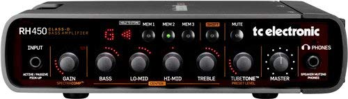 TC Electronic RH450 450W Bass Amp Head with TubeTone, SpectraComp, Onboard Tuner and Presets