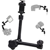 WINOTAR 11 11 Inch Adjustable Friction Power Articulating Magic Arm for DSLR Camera Rig / LCD Monitor / DV Monitor / LED Lights / flash light
