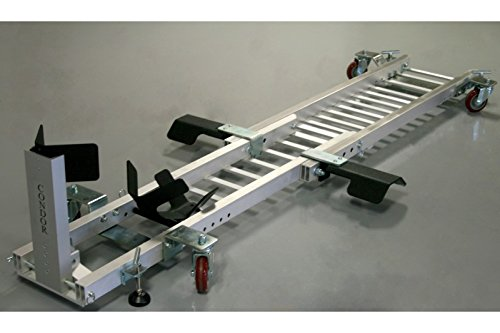 Condor Motorcycle Garage Dolly for Wheel Chock / Trailer Stand with Height Assist Footrests