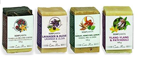 Monteverde Natural Cosmetics handmade soap set (4 bars): ...