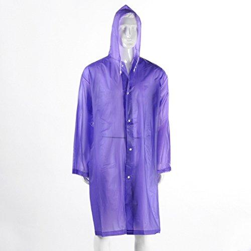 Imperméable Mode Adulte Épaisseur Violet Grasse Violet couleur Transparent Raincoat Matière xIgqUU