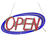 """Neon Sign Open LED Open Sign for Business Displays: LED Neon Light Sign 19.7"""" x 10.8""""Open Signs for Shops, Hotels, Liquor Stores   No use of Toxic Neon (Blue/Red) (Open)"""