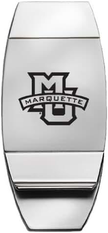 Marquette University - Two-Toned Money Clip - Silver