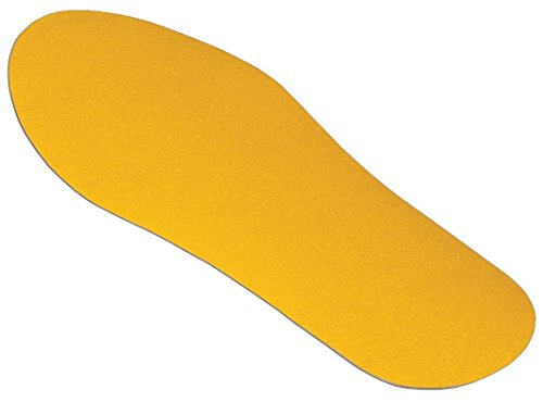 Gator Grip Yellow Anti Slip Footprint 10 Inch Die Cut Shape - Safety Step Traction Tape - 1 Pair (2 Feet)