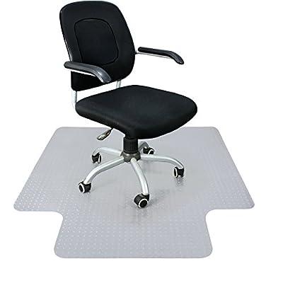 "Super Deal 48"" X 60"" 1/8"" Heavy Duty Carpet Chair Mat w/Lip, Transparent Chair mat for Office Chair Rug Carpet Floor Computer Desk Low and Medium Pile Carpets"