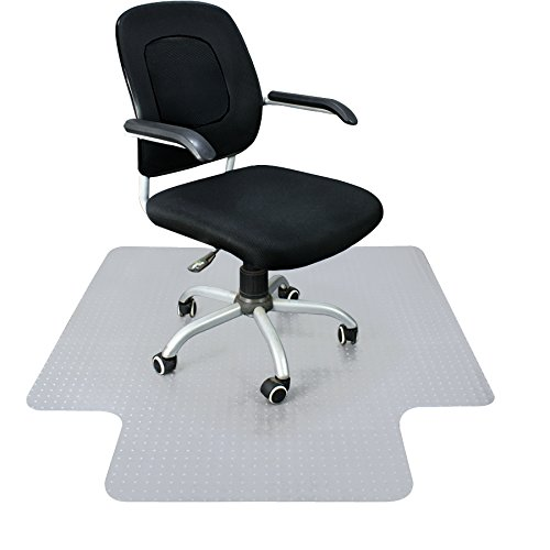 Super Deal Upgraded 48'' X 36'' 1/8'' Heavy Duty Carpet Chair Mat w/Lip, Transparent Chair mat for Office Chair Rug Carpet Floor Computer Desk Low and Medium Pile Carpets (#2) by Super Dea