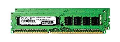 (16GB 2X8GB RAM Memory for Compaq ProLiant BL460c G6 Server Blade Black Diamond Memory Module 240pin PC3-12800 1600MHz DDR3 ECC UDIMM Upgrade)