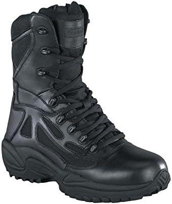 TALLA 43 EU. Reebok Rapid Response-Botas con Cremallera Lateral para Hombre (20,3 cm), Color Negro