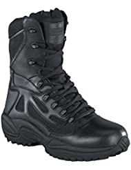 Reebok Mens Stealth 8 Lace-up Side-Zip Work Boot Black 14 EE US