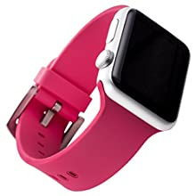 WITHit Apple Watch Silicone Replacement Band (Pink 38mm)