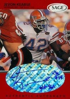 Jevon Kearse autographed Football Card (Florida) 1999 SAGE  A26 Rookie -  Football Autographed bebe68fe2