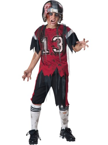 InCharacter Costumes Dead Zone Zombie Costume, Size 8/Medium - Football Player Costume For Kids