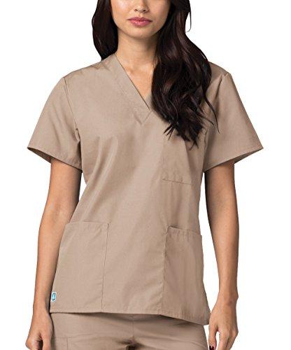 Da Camice Lavoro Infermiera Marrone Superiore Mediche Parte Adar Uniformi Unisex Ospedale khaki qzUwxAp8A