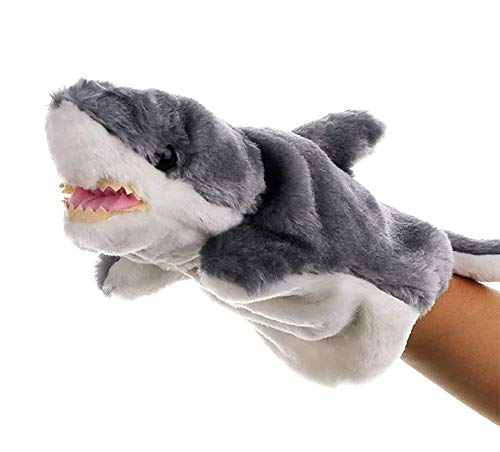Astra Gourmet Shark Glove Puppet Animal Hand Puppet Role-Play Toy Puppets for Kids Plush Toys Storytelling Game Props (Shark)]()