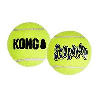 KONG Squeakair Balls, Dog Toy Premium Squeak Tennis Balls for Medium Dogs, Pack of 6
